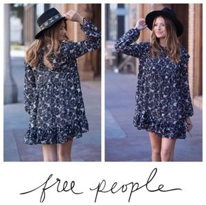 $128 NWT Free People These Dreams Ruffled Mini👗